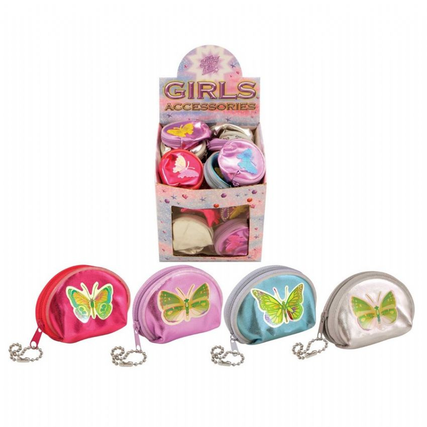 48 x Butterfly Mini Purses - Assorted Colours - Wholesale Bulk Buy